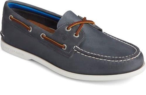 Sperry Authentic Original PLUSHWAVE Lace Mens Shoes Navy